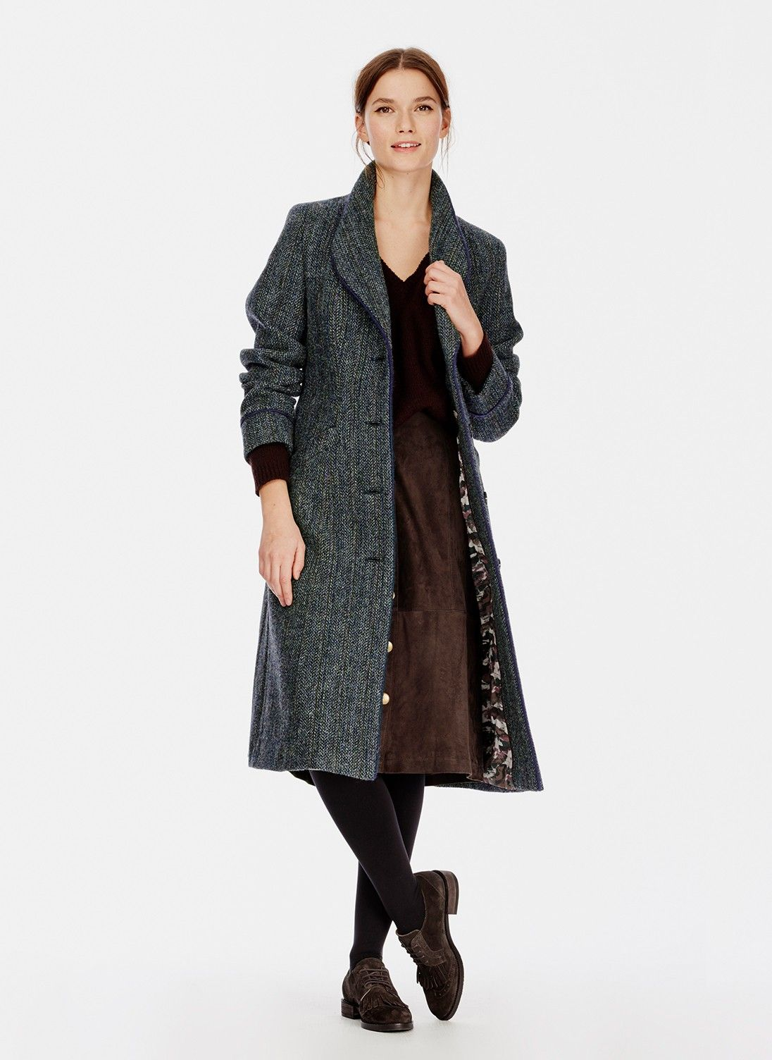 Harris Tweed Coat - Women's Coats & Jackets | Brora | Screenshots ...