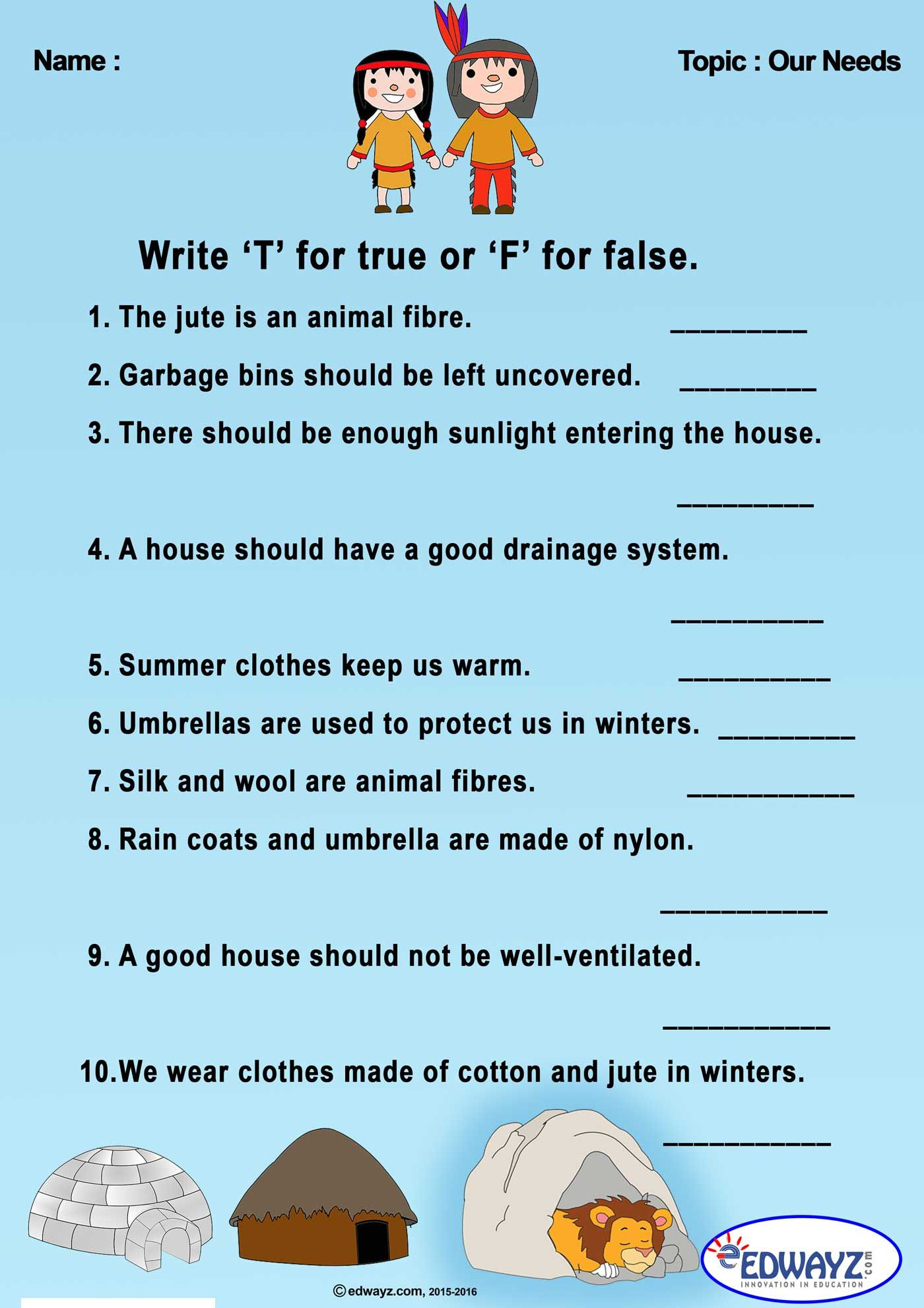 medium resolution of Worksheet On Clothes We Wear For Grade 1   Printable Worksheets and  Activities for Teachers