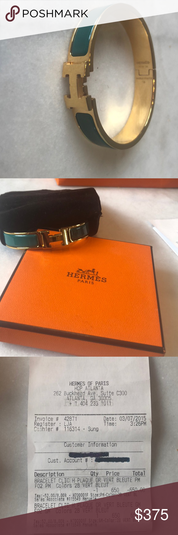 Hermes Bracelet Size Pm Gm