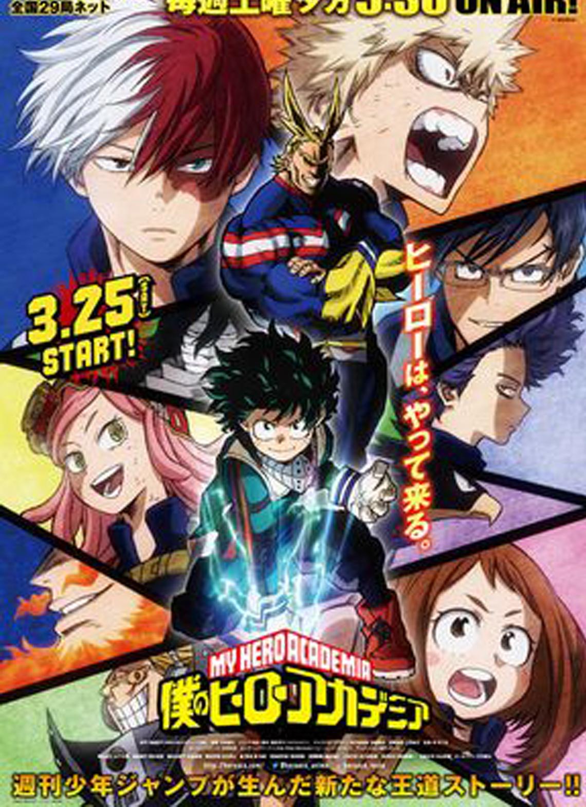 My Hero Academia 02 Vostfr : academia, vostfr, Academy, Season, Anime,, Personagens, Super, Anime