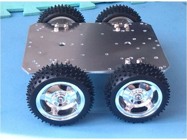 Aluminum alloy car chassis, provided by www.smartarduino.com
