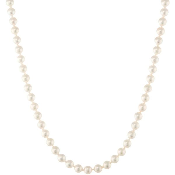 Mikimoto Women's Mikimoto Cultured Pearl Strand Necklace - White ($3,200) ❤ liked on Polyvore featuring jewelry, necklaces, white, white necklace, long necklace, white freshwater pearl necklace, 18 karat gold jewelry and long strand necklace
