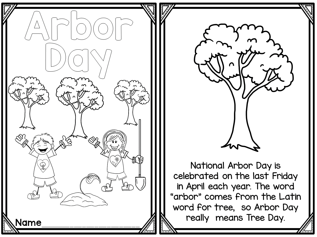 Arbor Day Printable Reader Freebie