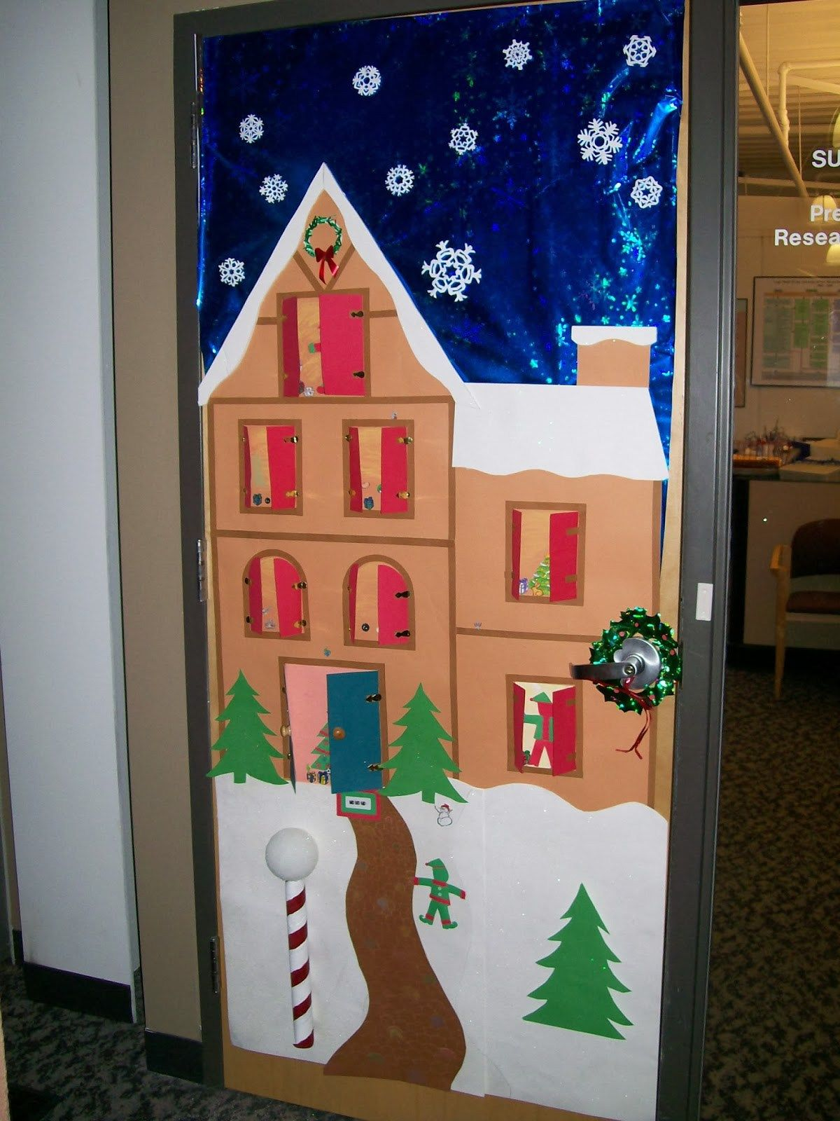 puertas navideas para nuestras clases unique christmas door decorations school decorations christmas door decorating - Pinterest Christmas Door Decorations