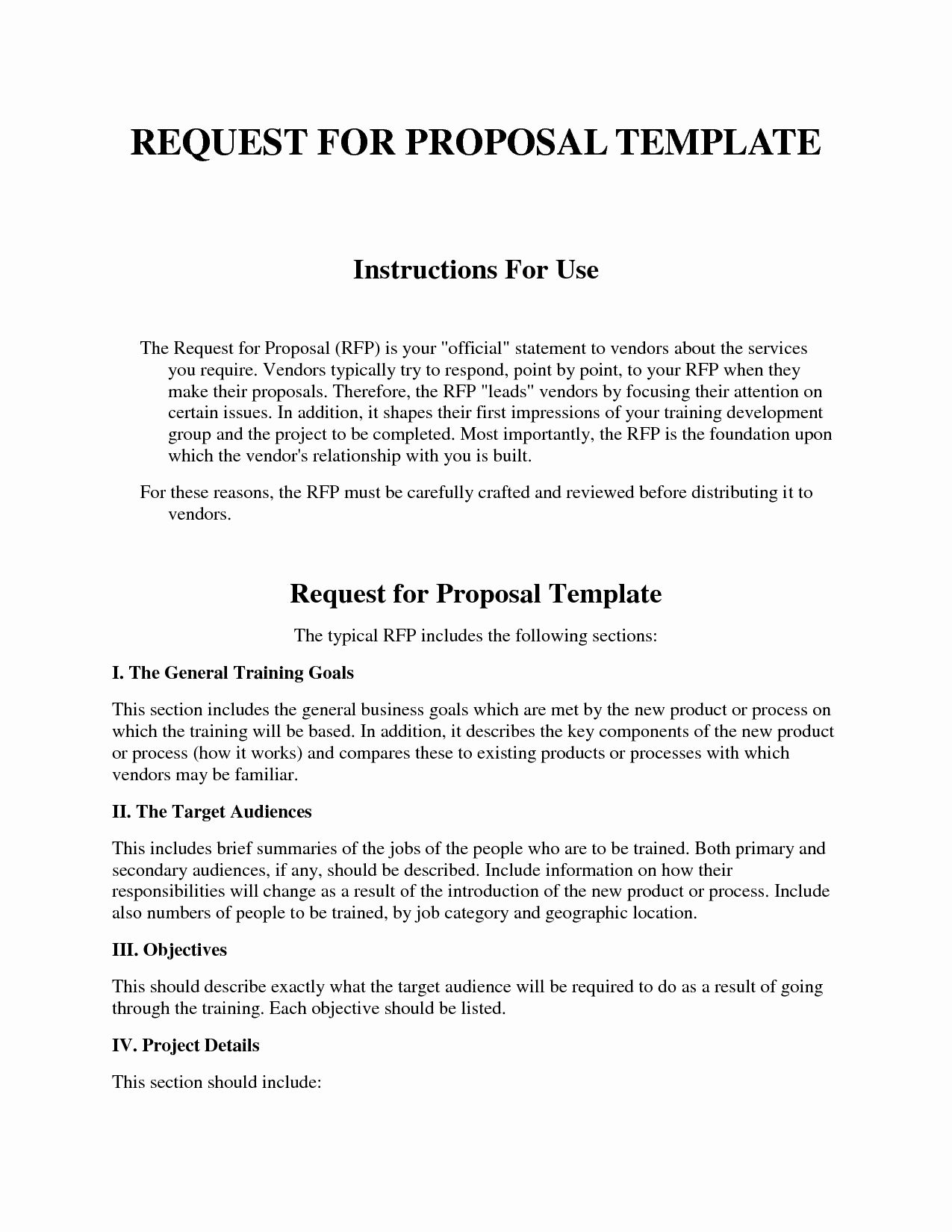 Request For Proposal Template New Request For Proposal Template Proposal Templates Request For Proposal Business Proposal Template