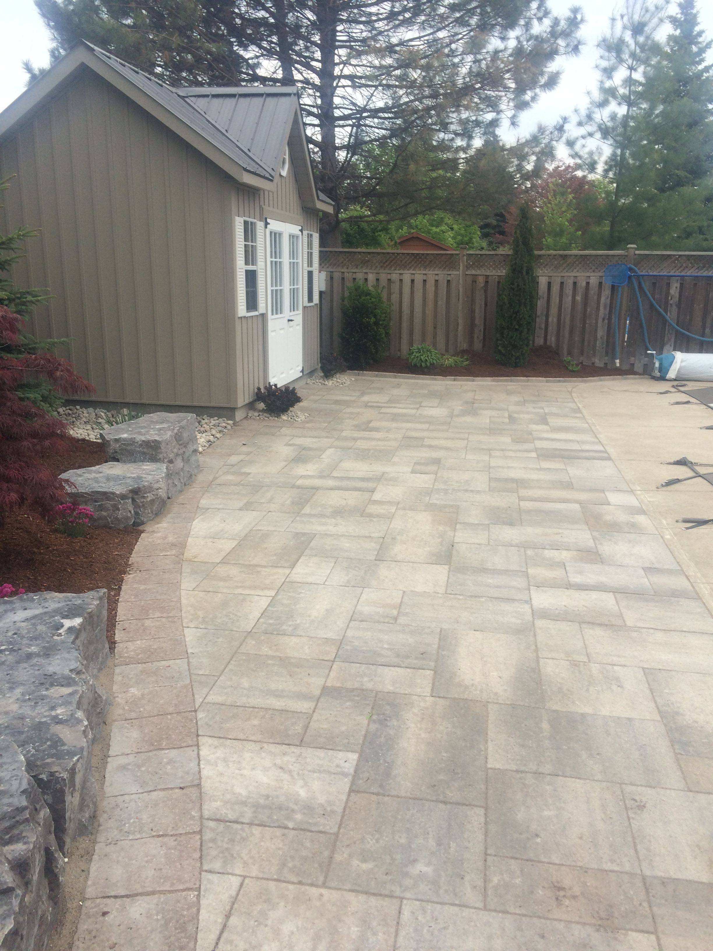 Prestige Landscaping recently installed this poolside Oaks Rialto