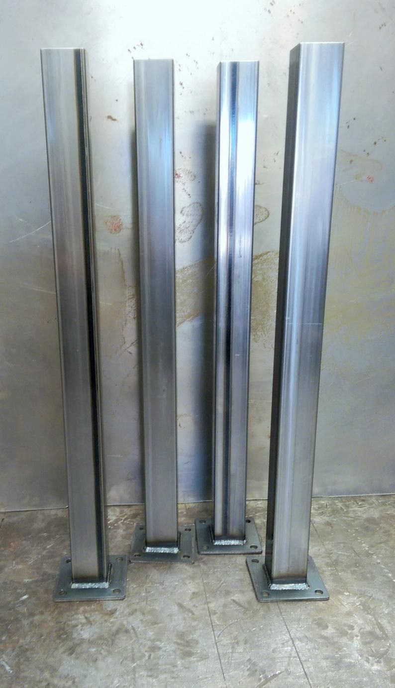 Metal Tube Table Legs Set Of 4 14 Ga In 2020 Table Legs Steel Table Legs Steel Frame Construction
