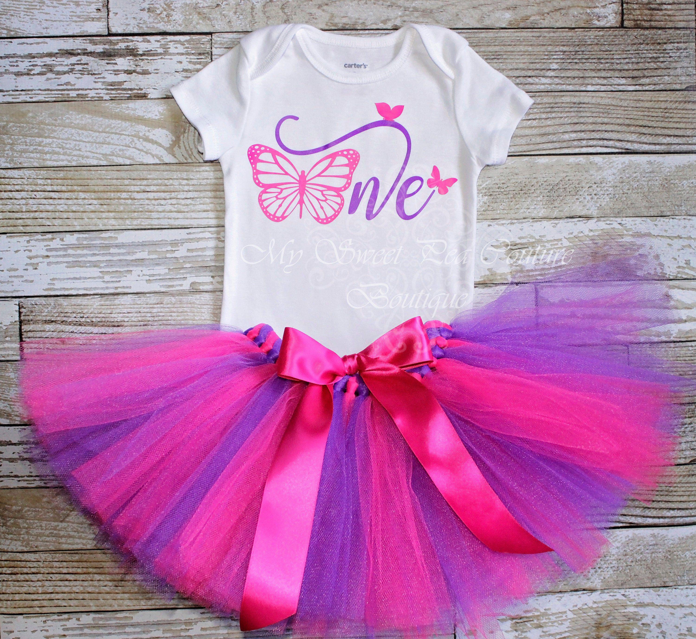 Birthday Tutu Set First Birthday Baby Girl Birthday 1st Birthday Glitter One Birthday Girl 1st Birthday Outfit