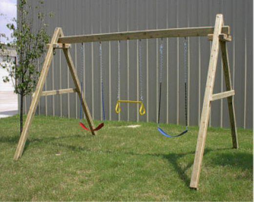 Wooden Swing Set Backyard Swing Sets Swing Set Plans Wood