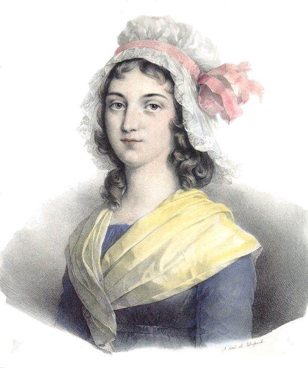 Charlotte Corday lithograph by François Séraphin Delpech