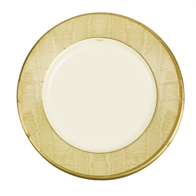 These exquisite gold moire paper plates give an expensive feel to your next travel themed party outdoor wedding or bridal shower.  sc 1 st  Pinterest & These exquisite gold moire paper plates give an expensive feel to ...