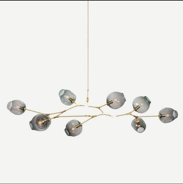 New lindsey adelman 8 globe glass annular moderncontemporary chandelier lamppendent