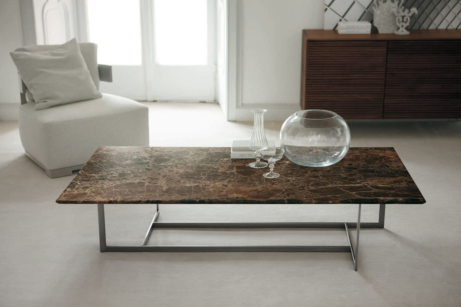 Contemporary marble coffee table - LONDRA by Opera Design - Porada ...