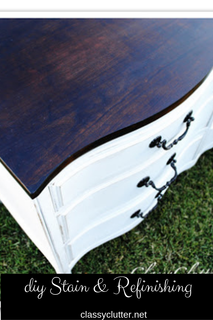 Give new life to that old piece of furniture. Learn how to stain and refinish wood here...