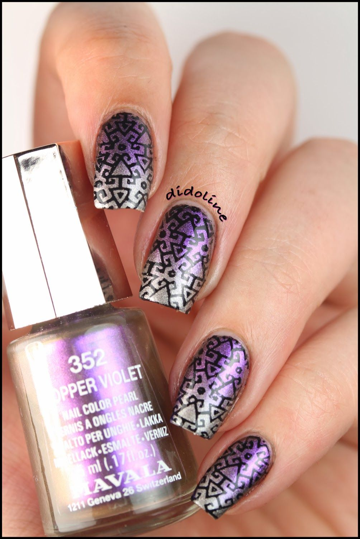 Dégradé Mavala & Stamping avec Infinity Nails | Infinity nails ...