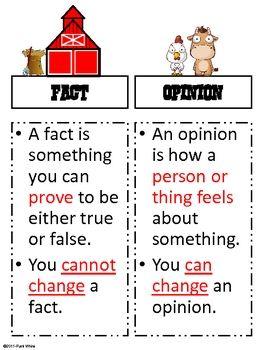 Farmhouse Fact Or Opinion Freebie Persuasive Writing Teaching Writing Teaching Reading