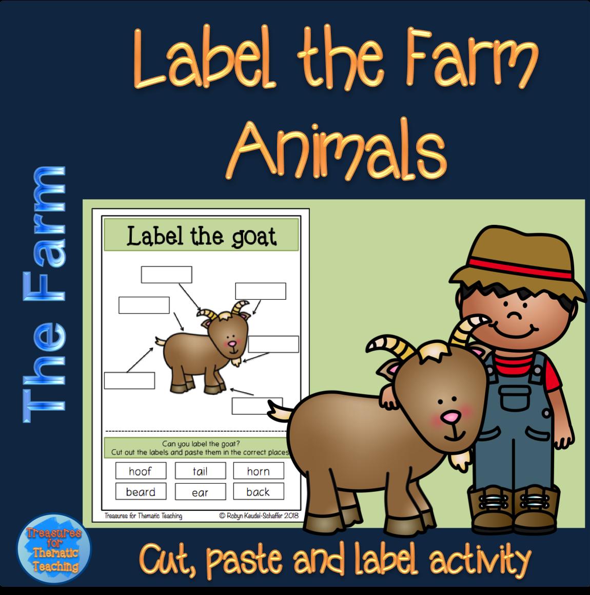 Farm Animals Labelling Activity