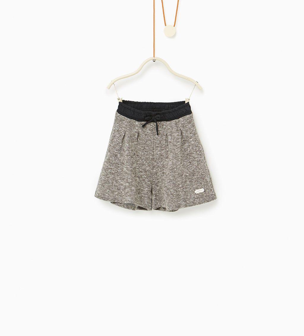 ZARA - DZIECI - Spodnie typu culotte z dzianiny dresowej   K*SHORTS ...
