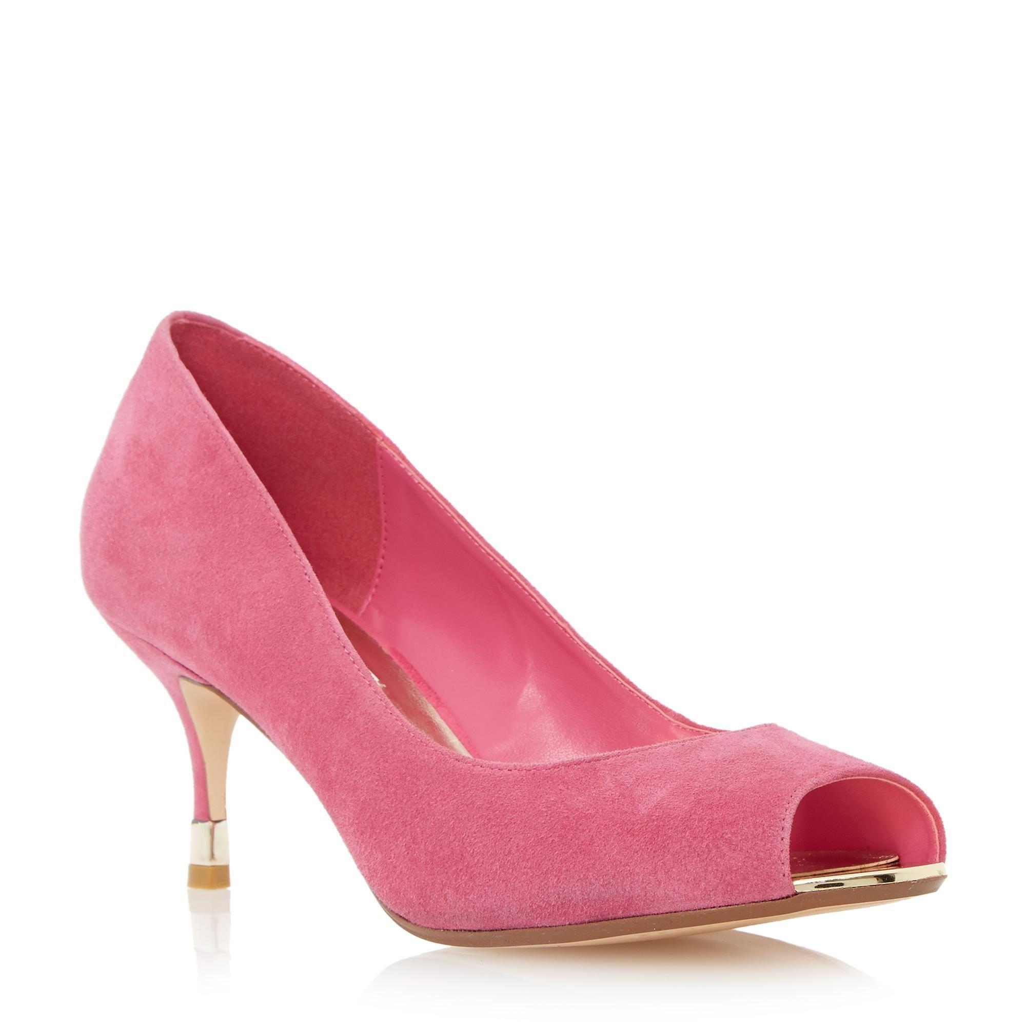 2b5c5141b80a DUNE LADIES DENISE - Peep Toe Kitten Heel Court Shoe - pink