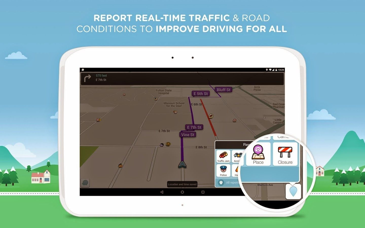 Free Download Waze Social GPS Maps & Traffic for android APK