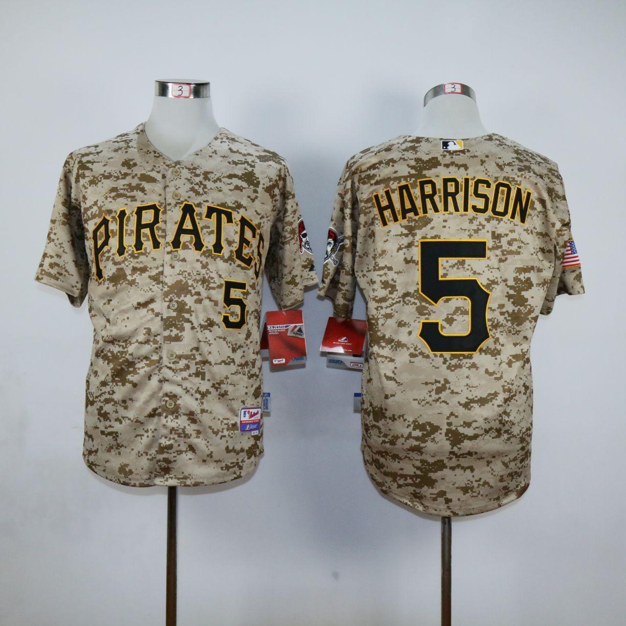 huge selection of 48add fd1ca MLB Pittsburgh Pirates 5 Josh Harrison Camo Jerseys,cheap ...