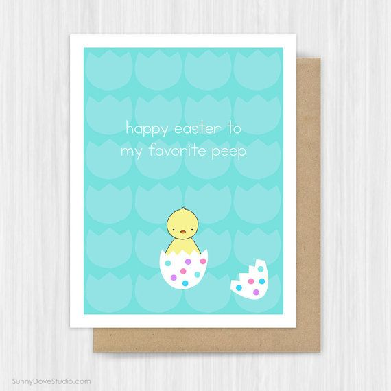 Easter card cute baby chick funny pun happy easter cards for easter card cute baby chick funny pun happy easter cards for negle Image collections