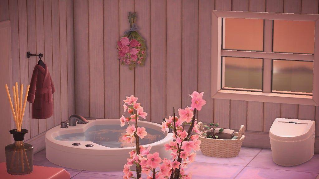 Finally Did My Bathroom Animalcrossing Animal Crossing Wild World Animal Crossing Animal Crossing Game