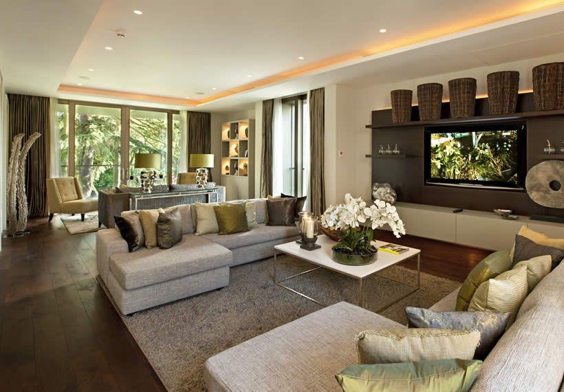 Marvelous Comfortable Living Room Ideas, Modern Sofa, Center Table, Led Tv, Lamp Light