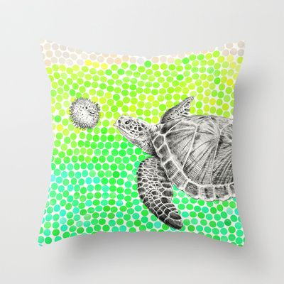New Friends 1 by Eric Fan and Garima Dhawan Throw Pillow by Eric Fan - $20.00