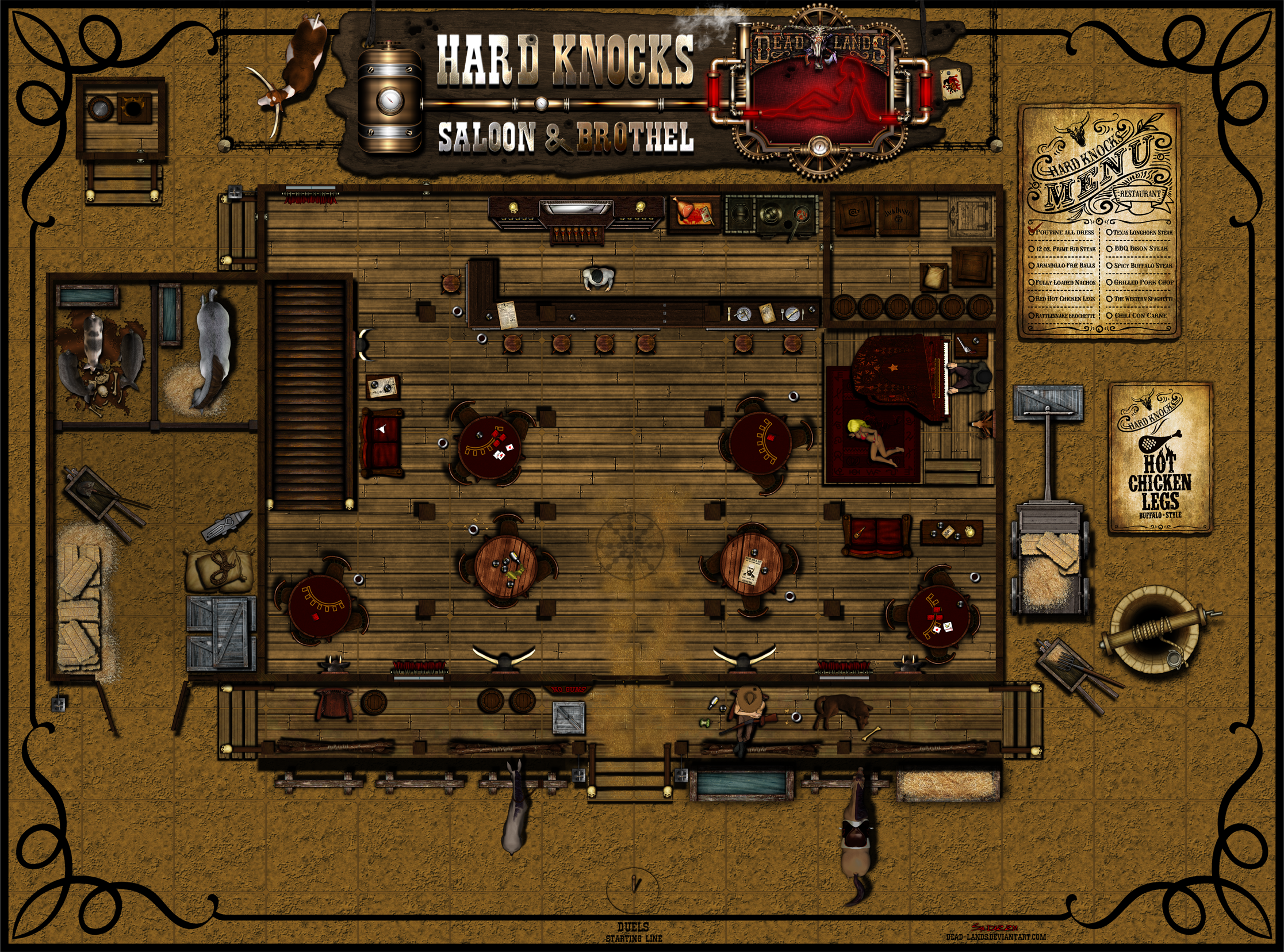 Deadlands maps google search western deadlands rpg for Floor 6 reloaded
