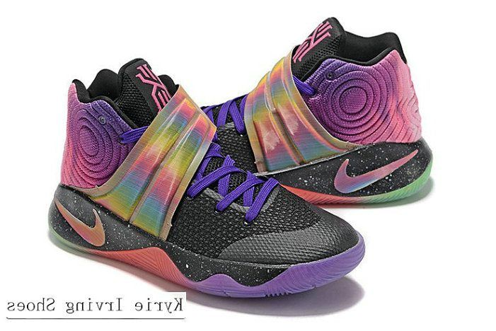 b03c1271ff6cb Kyrie 2 II Black Purple Green Multi color | lebron shoes | Nike ...