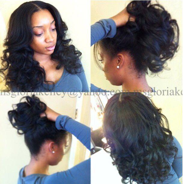 sew-in styles - Google Search | Hair | Pinterest | Hair goals ...
