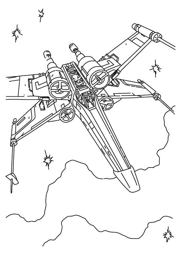 Print Coloring Image Momjunction Star Wars Coloring Sheet Star Wars Coloring Book Star Wars Spaceships