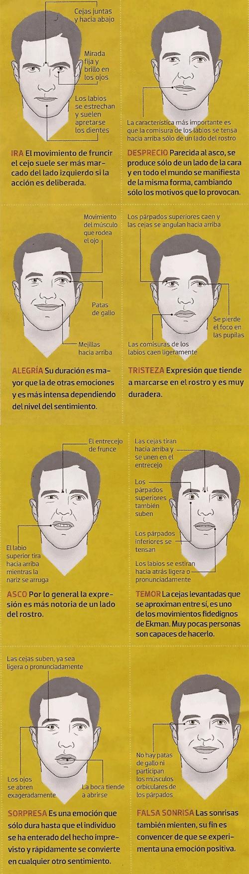 Ilustración de Francisco González: las expresiones faciales - Lenguaje Corporal