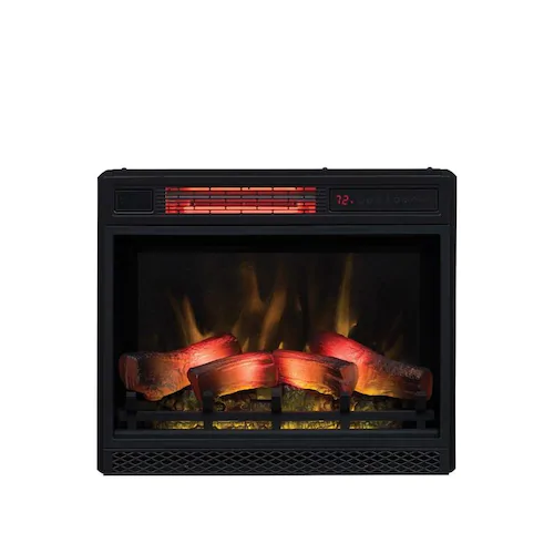ClassicFlame 23.6in Black Electric Fireplace Insert Lowes