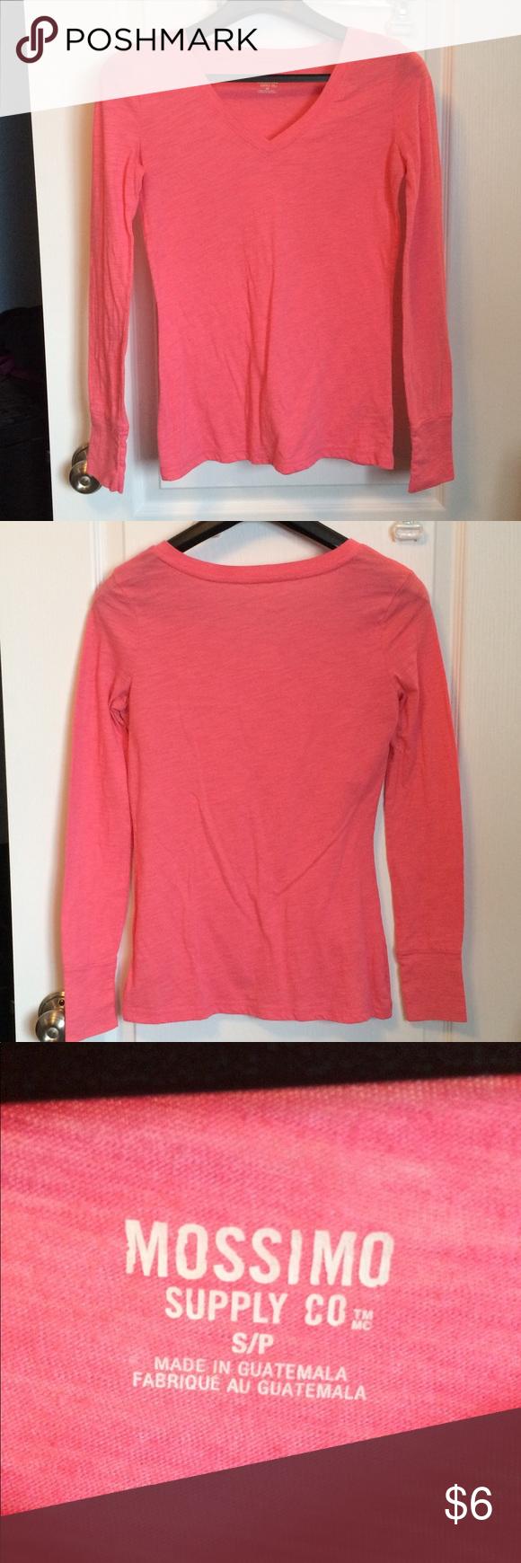 Mossimo Long Sleeve Coral Colored Shirt Like New My Posh Picks