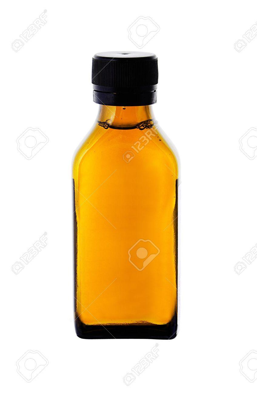 14166772-frasco-de-medicina-con-el-jarabe-de-color-amarillo-sobre ...