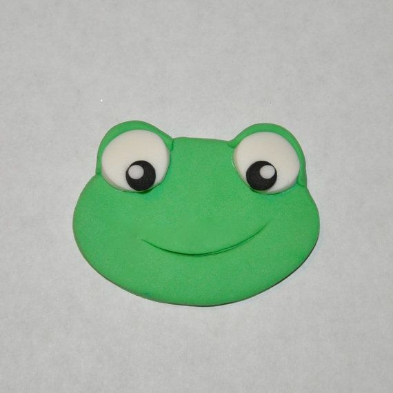 Frog Fondant Cupcake Cake or Cookie Toppers by LadyCupcakesCorner, $15.95