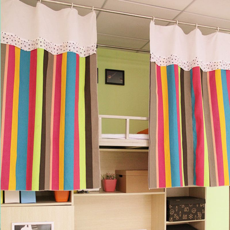 Bunk Bed With A Really Cute Curtain Hiding The Beds