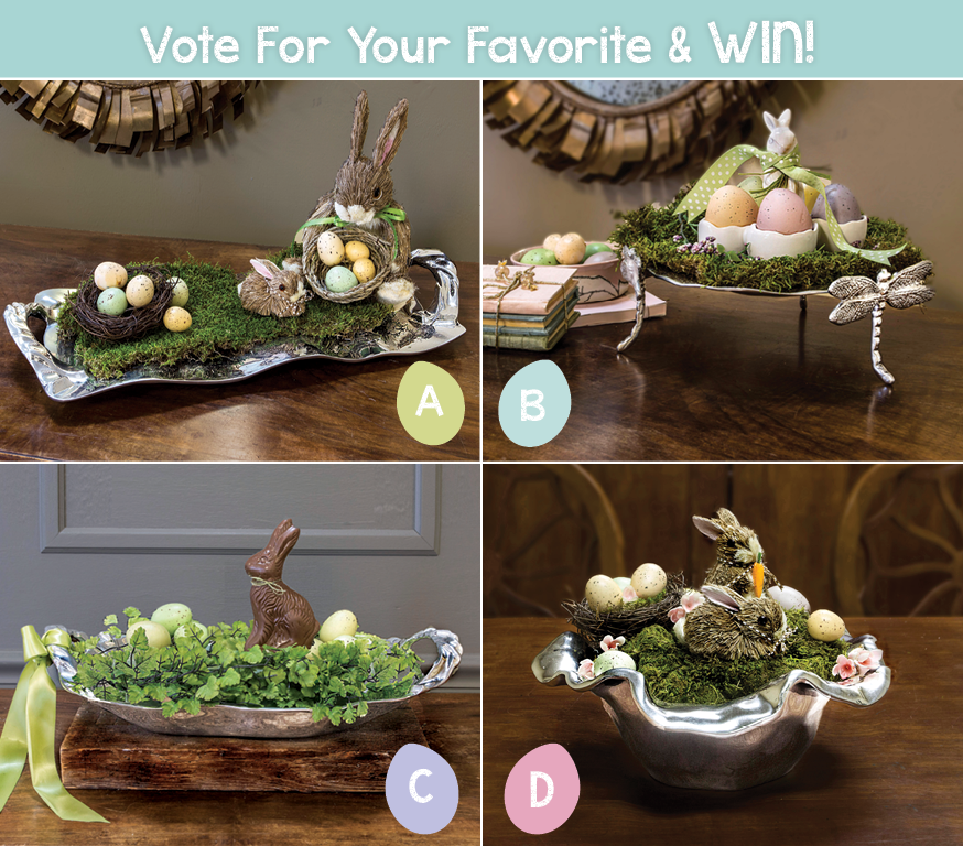Easter Centerpieces that are quick, easy and under $25 to create!   beatrizball.com/springentertaining