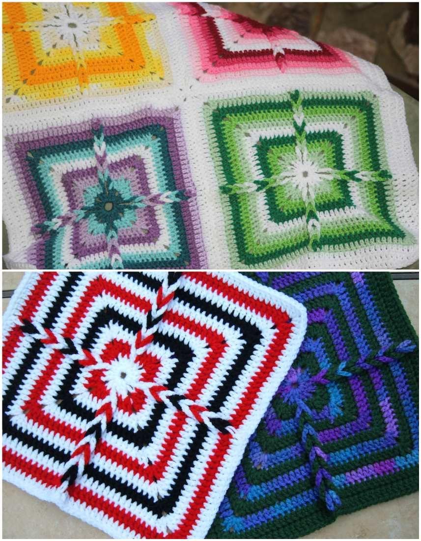 Ladder-Loops Crochet Block – Free Pattern | Crochet blocks, Free ...