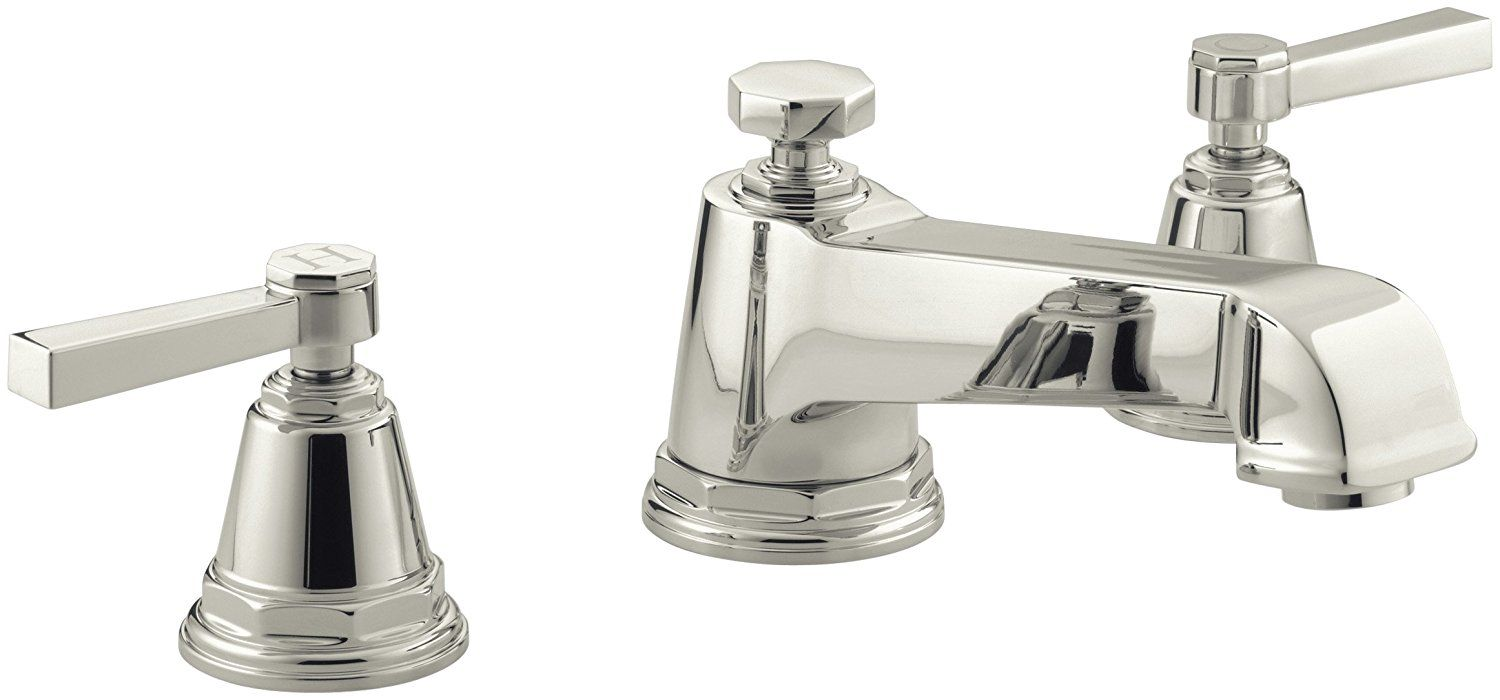Kohler K T13140 4a Bn Pinstripe Pure Deck Mount High Flow Bath Faucet Trim With Lever Handles Valve Not Included Vibrant Roman Tub Metal For Sale Tub Filler