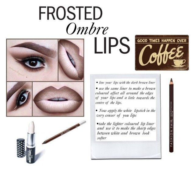 """""""Frosted ombré lips"""" by linnea-tore ❤ liked on Polyvore featuring beauté, NYX, Manic Panic, Fashion Fair et Urban Decay"""