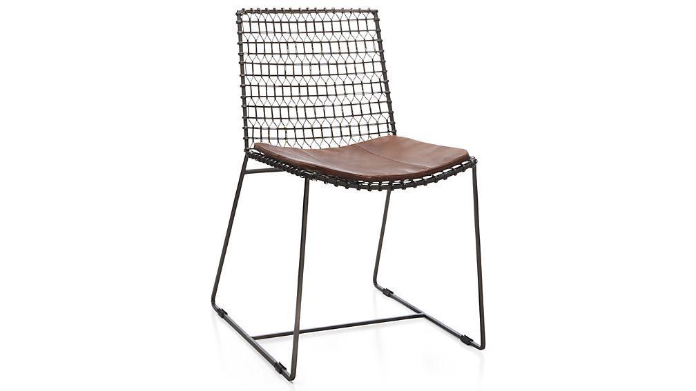 Crate U0026 Barrel Tig Metal Dining Chair