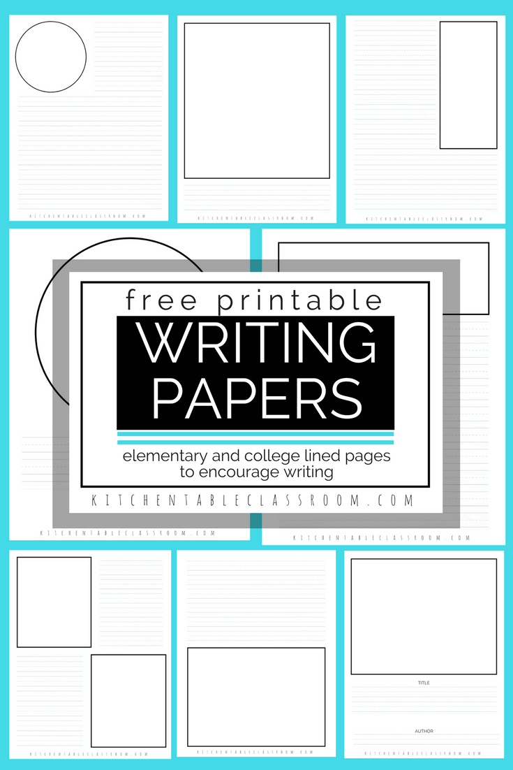Printable Writing Paper For Kids Twenty Versions Of Lined Paper To Print The Kitchen Table Classroom Writing Prompts For Kids Writing Paper Creative Writing Prompts [ 1102 x 735 Pixel ]