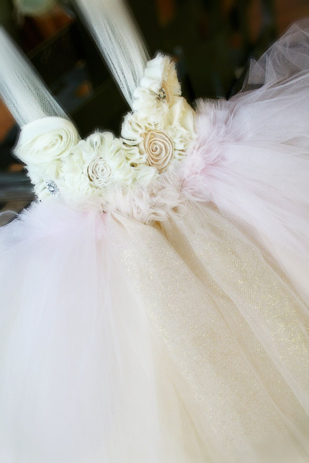 Precious Treasure Light Pink and Gold Shimmer Tutu by