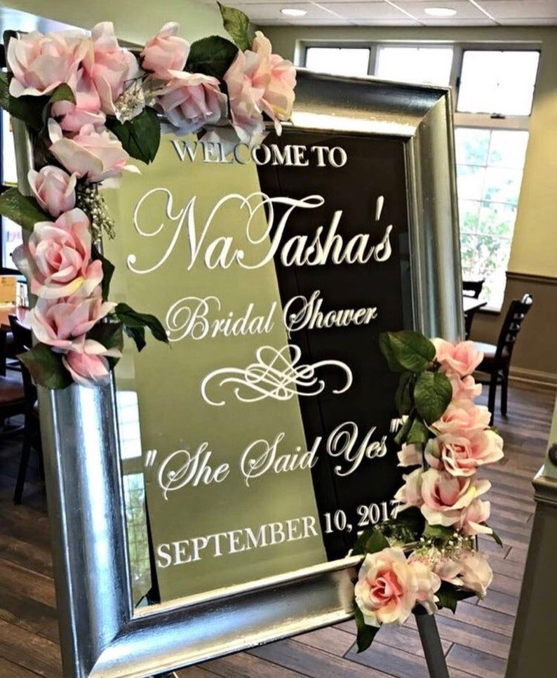 900 Bridal Shower Welcome Sign Ideas