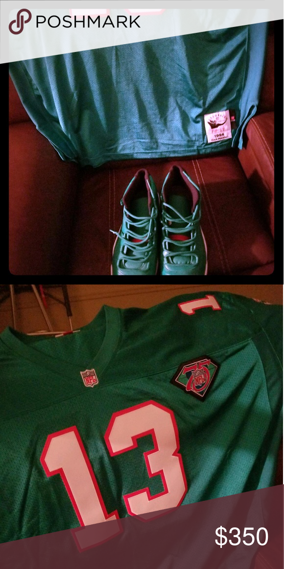 sports shoes beced f229c Dolphins Jersey and customs Js Mitchell and ness Dan Marino ...