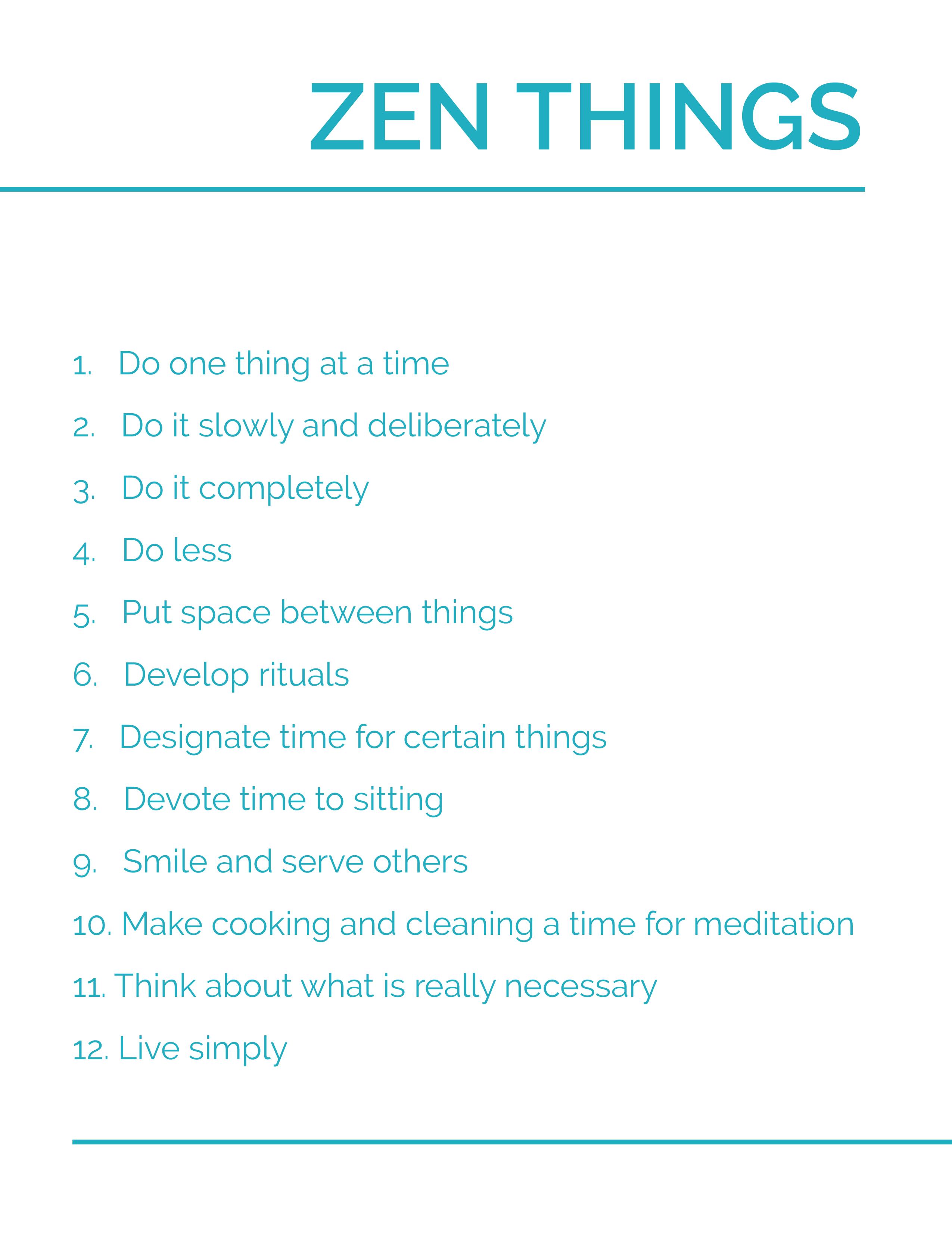 Zen Stuff