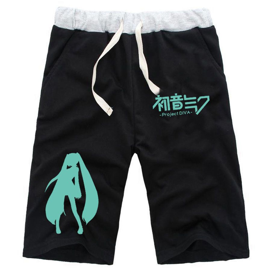 Anime Hatsune Miku Cotton Casual Pants Baggy Shorts Pockets Short Pants Trousers | eBay